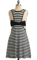 ModCloth Striking Stripes Dress - Lyst
