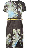 Preen By Thorton Bregazzi Akiko Printed Silk Dress - Lyst