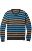 Marc By Marc Jacobs Striped Silk-blend Sweater - Lyst