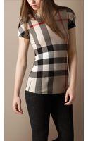 Burberry Brit Check Short Sleeve T-shirt - Lyst