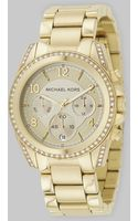 Michael Kors Stainless Steel Chronograph Bracelet Watch/gold - Lyst