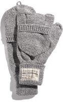 Obey Fold Back Fingerless Mittens - Lyst