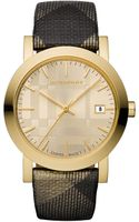 Burberry Medium Shimmer Check Strap Watch - Lyst