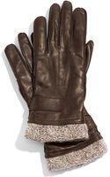 Tarnish Knit Cuff Leather Gloves - Lyst