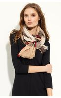 Burberry Linen Blend Check Scarf - Lyst