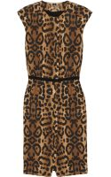 Giambattista Valli Leopard-print Cotton Dress - Lyst