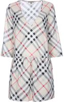 Burberry Brit Checked Dress - Lyst