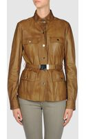 Gucci Leather Outerwear - Lyst