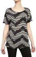 Proenza Schouler Tie Dye Striped Cotton Jersey T-shirt - Lyst