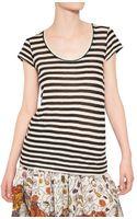 Proenza Schouler Striped Cotton Jersey T-shirt - Lyst