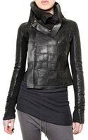 Rick Owens Crocodile Leather Jacket - Lyst
