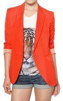 Stella McCartney Dry Slub Viscose Twill Jacket - Lyst