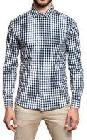 Closed Vichy Cotton Poplin Shirt - Lyst