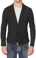 Dolce & Gabbana Vichy Cotton Canvas Short Jacket - Lyst