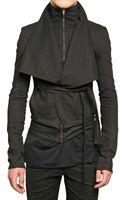 Gareth Pugh Stretch Denim Belted Sport Jacket - Lyst