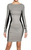 Gareth Pugh Stripey Stretch Silk Jersey Dress - Lyst
