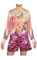 Mary Katrantzou Printed Silk Georgette Shirt - Lyst