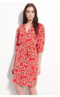 Tucker Smocked Printed Silk Shirtdress - Lyst