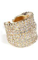 Dannijo Golden Swarovski Crystals Ring - Lyst