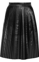 Maison Martin Margiela Faux Leather Pleated Skirt - Lyst
