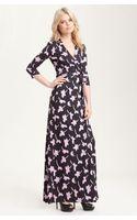Diane Von Furstenberg 'Abigail' Print Silk Jersey Maxi Wrap Dress - Lyst
