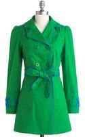 ModCloth Emerald School Coat - Lyst