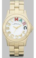 Marc By Marc Jacobs Multi-colored Crystal Accented Stainless Steel Watch/goldtone Ion-plated - Lyst