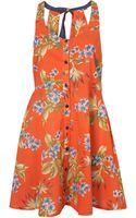 Topshop Palm Grunge Dress - Lyst