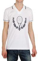 Dolce & Gabbana Tennis Logo Polo - Lyst