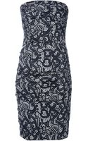 Dolce & Gabbana Strapless Dress - Lyst
