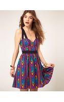 Asos Summer Dress In Aztec Print - Lyst