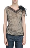 Valentino Point Desprit Couture T-shirt with Shoulder Bow - Lyst
