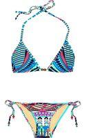 Mara Hoffman Printed Triangle Bikini - Lyst