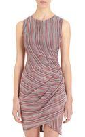 Sea Line Print Dress - Lyst