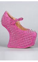 Jeffrey Campbell The Prickly Shoe in Fuchsia Suede - Lyst