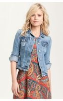 Paige Vermont Distressed Denim Jacket - Lyst
