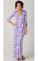 Diane Von Furstenberg Abigail Wrap Maxi Dress - Lyst
