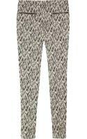 Matthew Williamson Ikat-print Stretch Cotton-blend Skinny Pants - Lyst
