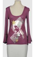 John Galliano Long Sleeve T Shirts - Lyst