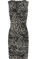 La Petite Salope Printed Stretch Linen-blend Dress - Lyst