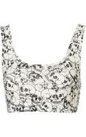 Topshop All Over Skull Bralet - Lyst