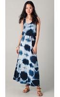C&c California Tie Waist Maxi Dress - Lyst