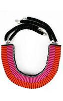 Jennifer Loiselle The Clemence Woven Necklace in Pinkorange - Lyst