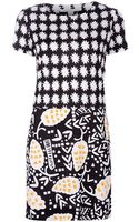 Diane Von Furstenberg Printed Dress - Lyst