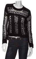 Theyskens' Theory Open Weave Cropped Sweater - Lyst