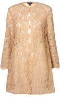 Topshop Scalloped Edge Lace Coat - Lyst