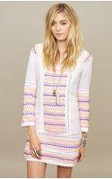 Letarte Embroidered Mini Dress - Lyst