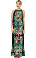 Oasis Scarf Print Maxi Dress Multi Green - Lyst