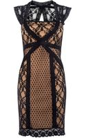 Oasis Spot and Lace Sexy Dress - Lyst