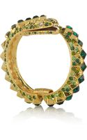 Kenneth Jay Lane 22karat Goldplated Crystal Snake Bracelet - Lyst